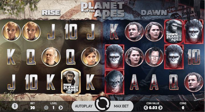 Planet of the Apes New Netent Slots