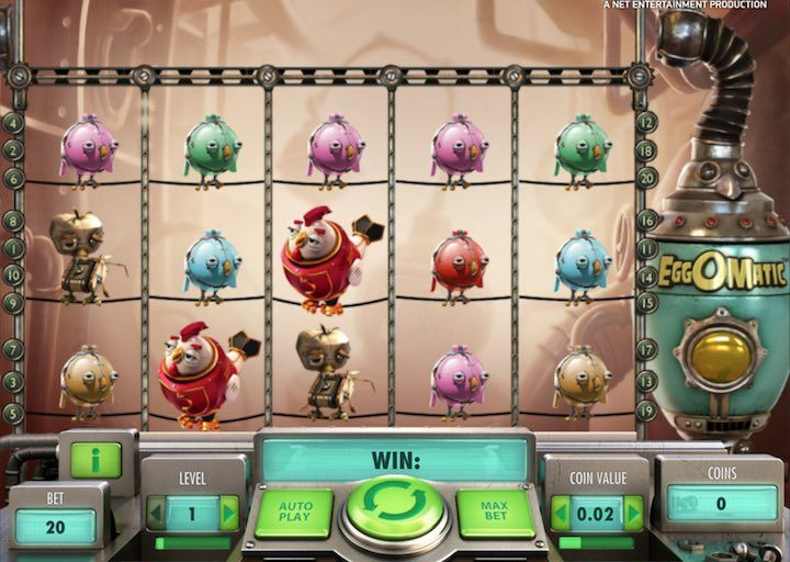 Eggomatic is a great online slot by Netent