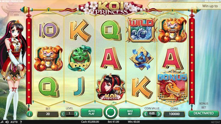 Koi Princess is a feature-packed slots by Netent