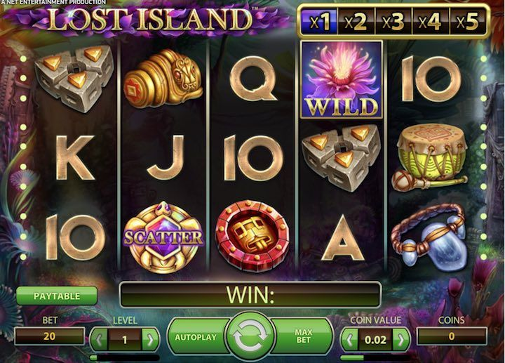 Lost Island is a sometimes fun, sometimes dull slots by Netent