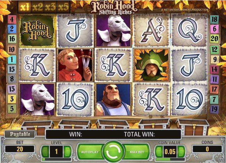 Robin Hood Slots by NetEnt