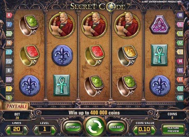 The Secret Code, is a great new slots by Netent