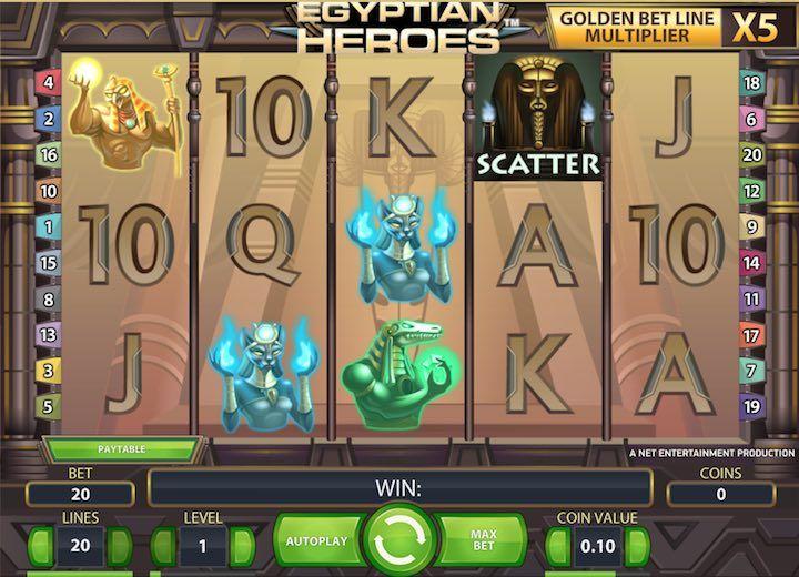 Egyptian Heroes Slots Netent