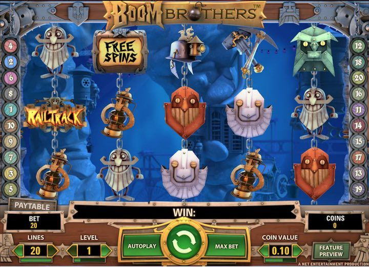 Boom Brothers slots Netent