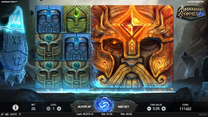 Asgardian Stones slot machine game that pays out real money