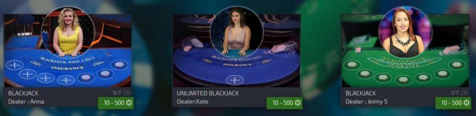 live dealer blackjack king billy