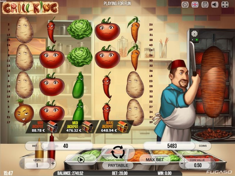 grill king slot game