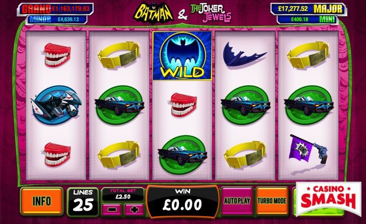 Batman and the Joker Jewels superhero slot  machine