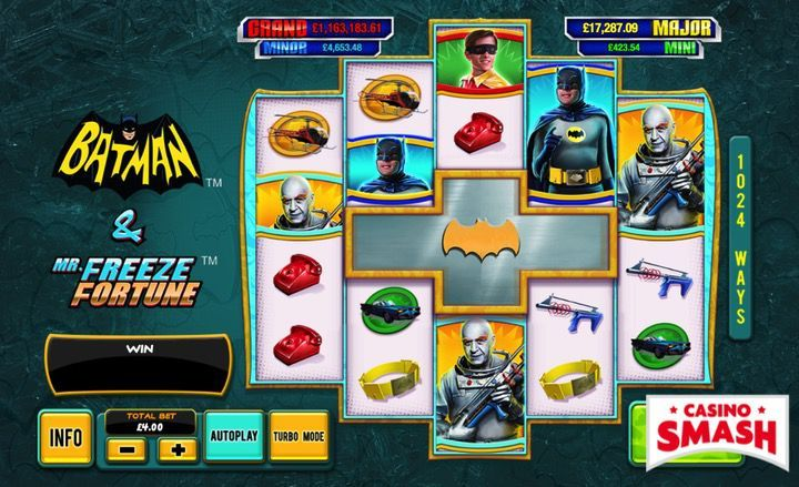 Batman and Mr. Freeze Fortune superhero game for real money
