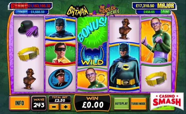 Batman and the Riddler Riches slots video game