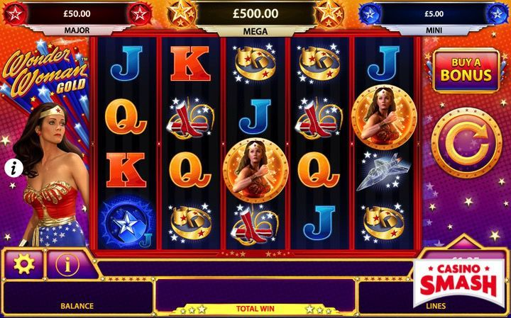 Wonder Woman Gold Superhero slots game online