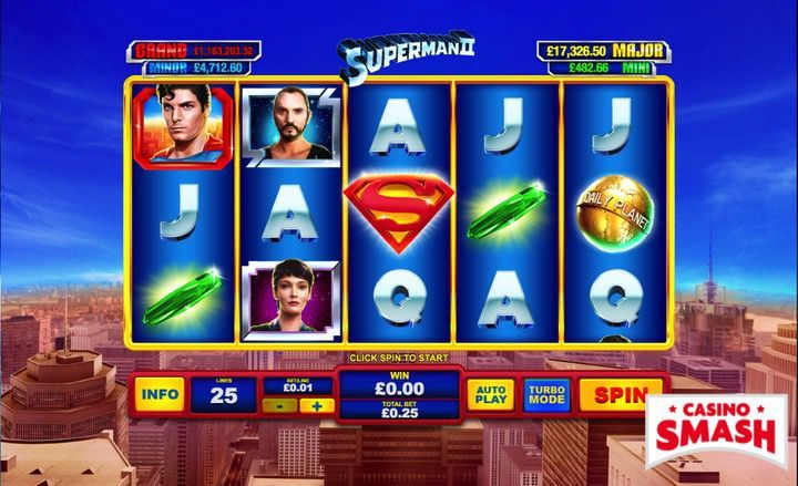 Superman II video slots