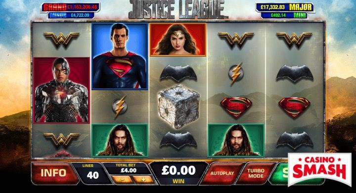 Justice Heroes game online of slot machine