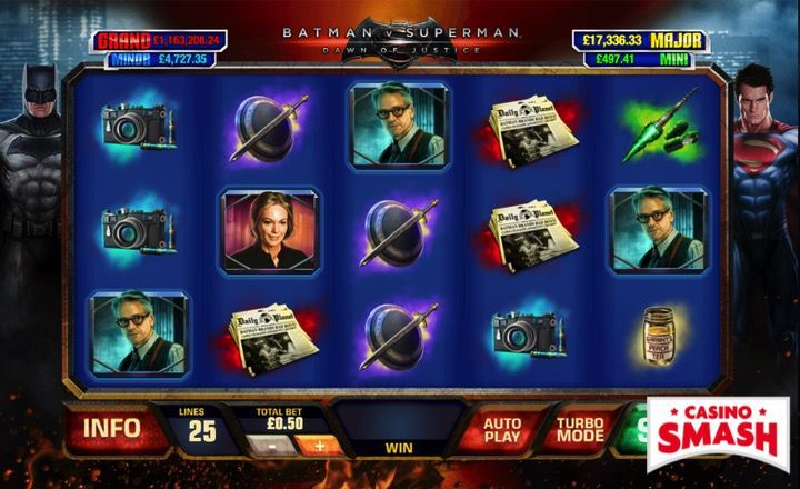 Batman vs Superman slot machine game with Superheroes