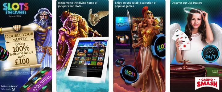 SlotsHeaven mobile casino app for iPhone