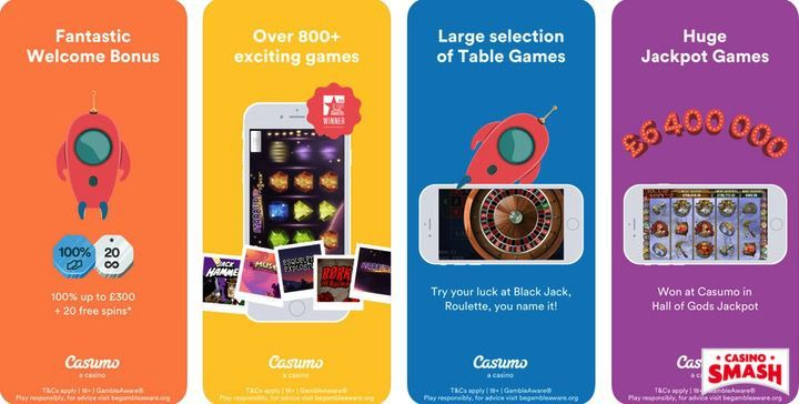 Casumo Casino mobile casino app for iPhone