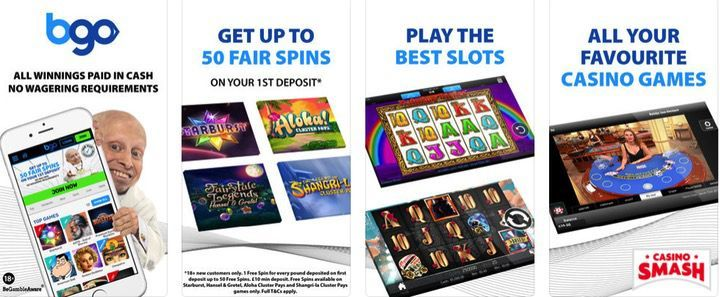 BGO Casino free casino mobile app for iPhone