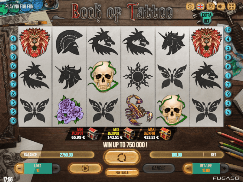 Book of Tattoo slots