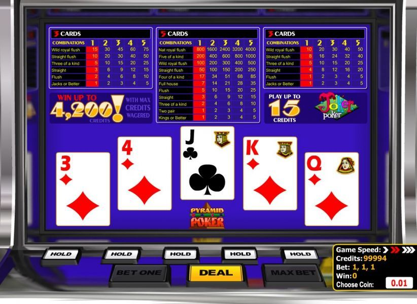 PlayAmo video poker