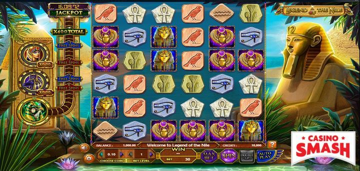 Legend of the Nile is a fun-to-play slot machine you can play for free or real money