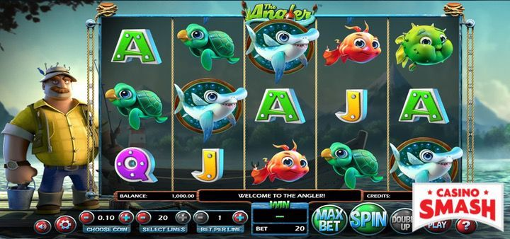 The Angler free slot machine with bonus rounds at BetVoyager Casino
