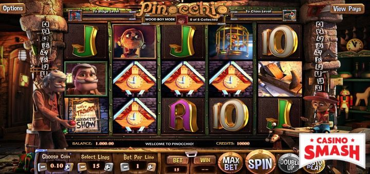 Pinocchio slot machine game