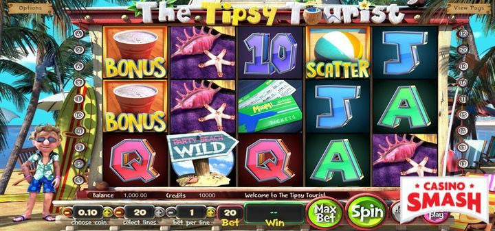 The tipsy tourist slot machine