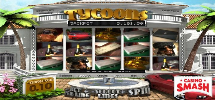 Tycoons slot machine with free spins