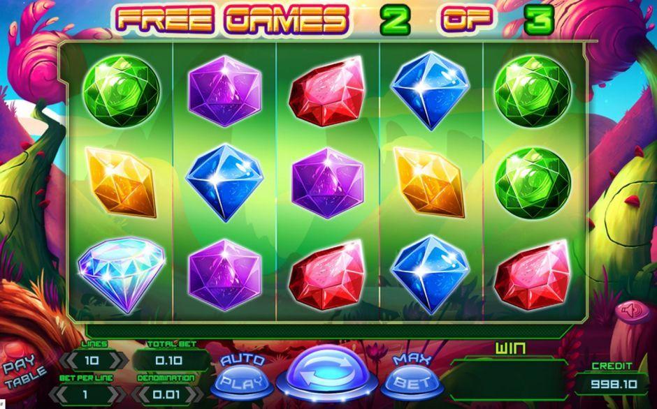 planet rocks bonus slot