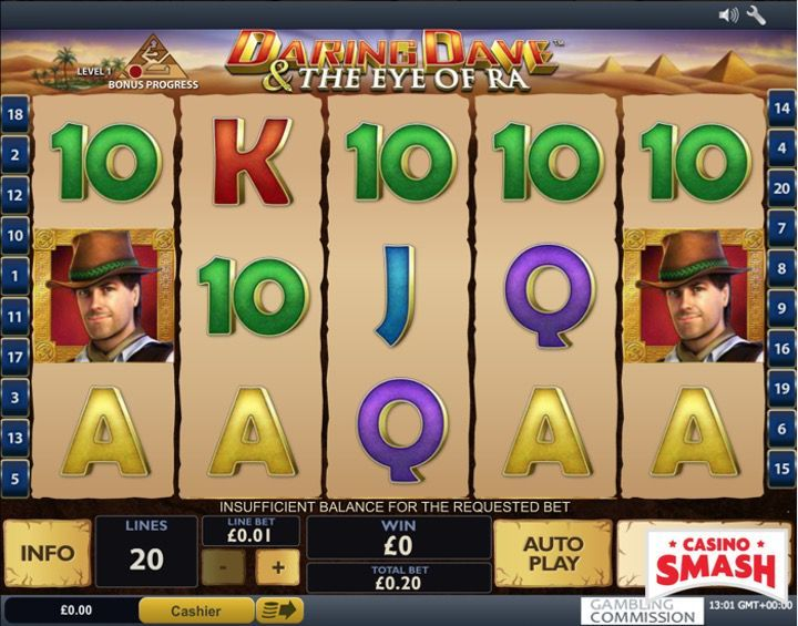 Daring Dave & The Eye of Ra Egypt Slot
