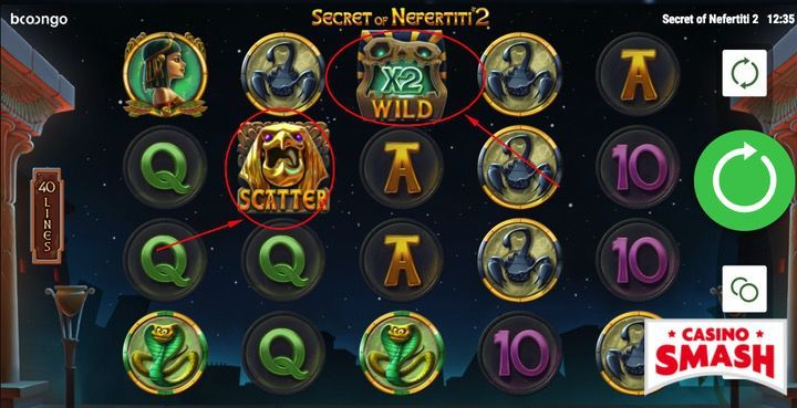 Secret of Nefertiti 2 Slot Machine