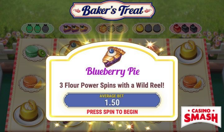 Baker's treat Slots bonus round