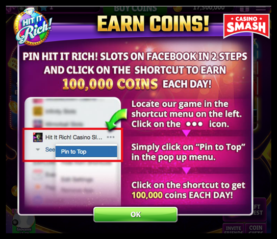 hit it rich casino free coins