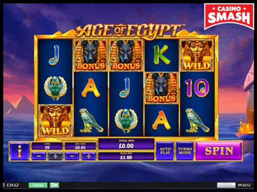 Age of Egypt is a fun slot for beginners