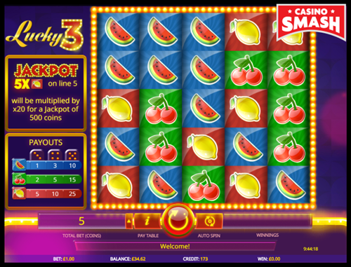 Lucky 3 beginner online slots