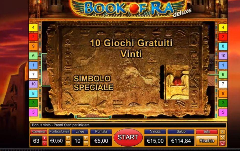 Slot Book of Ra gratis con il bonus senza deposito