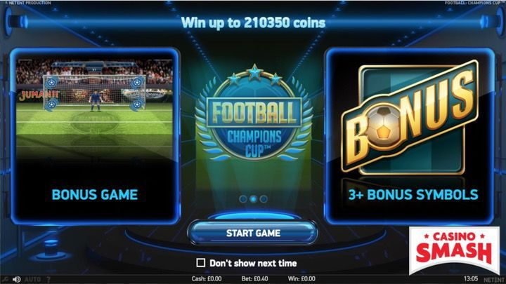 Football Champions Cup Football Slots Game