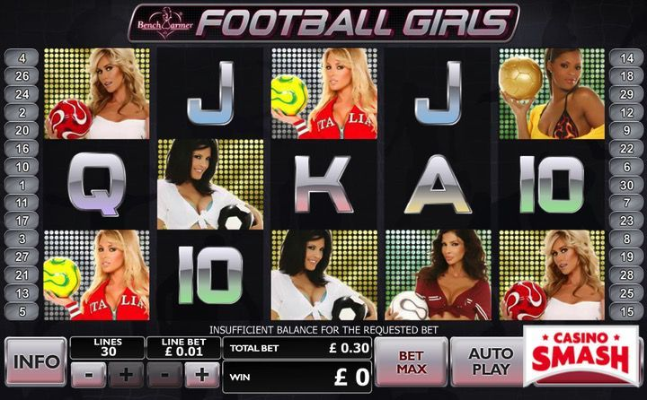 Bench Warmer Football Girls slot machine game online