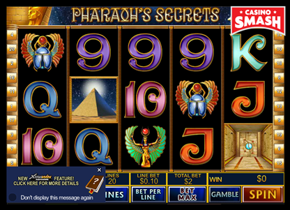 Pharaoh's Secrets bitcoin games