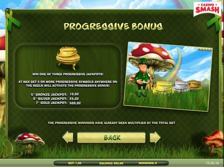 Lucky Leprechaun Slots Progressive Jackpot