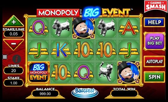 Monopoly: Big Event Slots game online