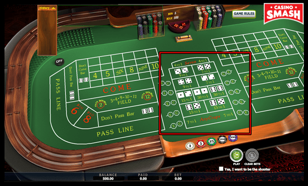 Proposition Bets in the Game of Craps Online