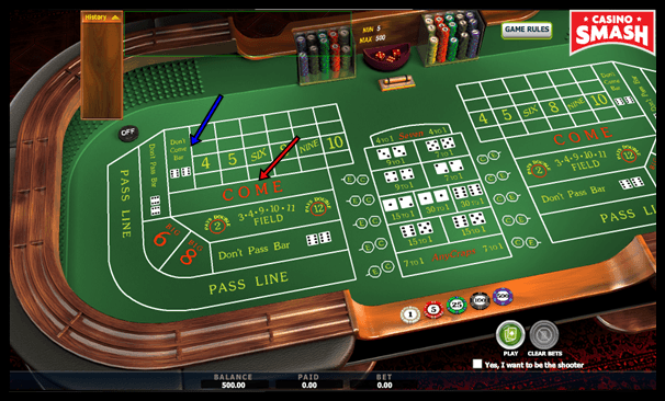 Come Bet in the Game of Craps