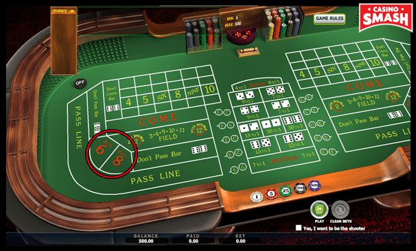 Big 6 and Big 8 Bets in the Game of Craps Online