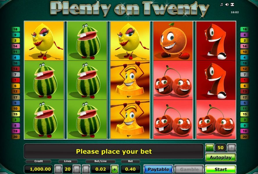 Plenty on Twenty su Starvegas - Slot Machine
