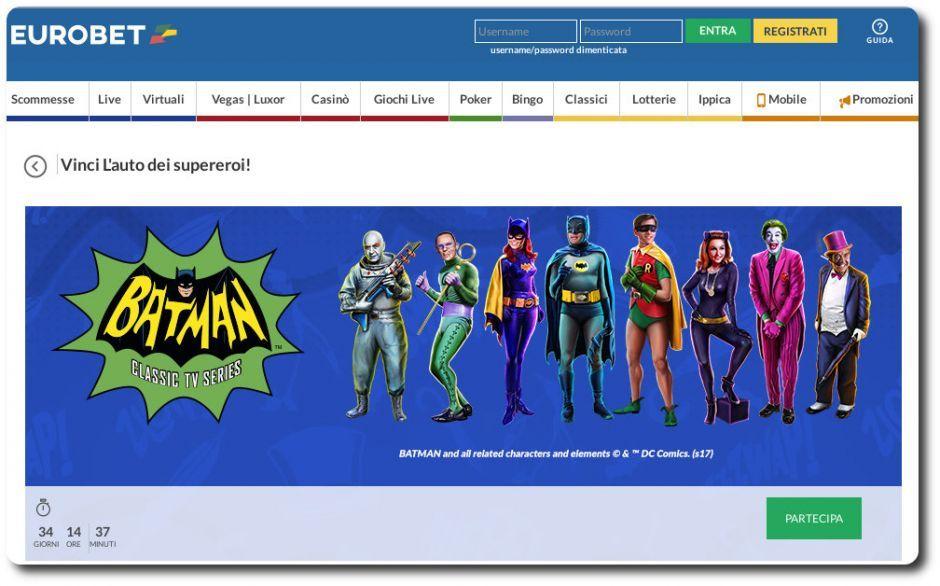 Batman su Eurobet - Slot Machine Senza Scaricare