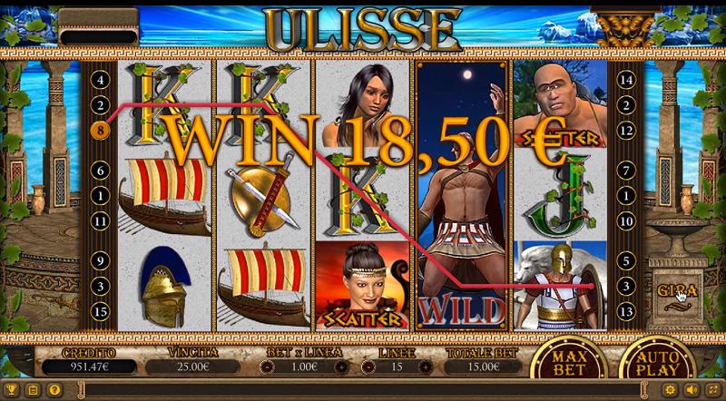 Schermata della slot Ulisse