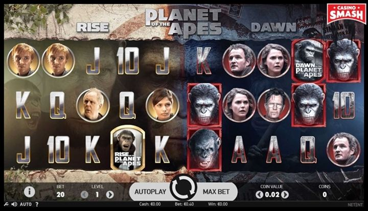 planet of the apes Movie-Themed Online Slots
