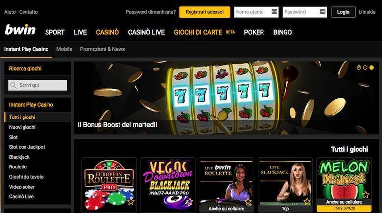 Bwin - Per giocare con un deposito minimo da 5 euro