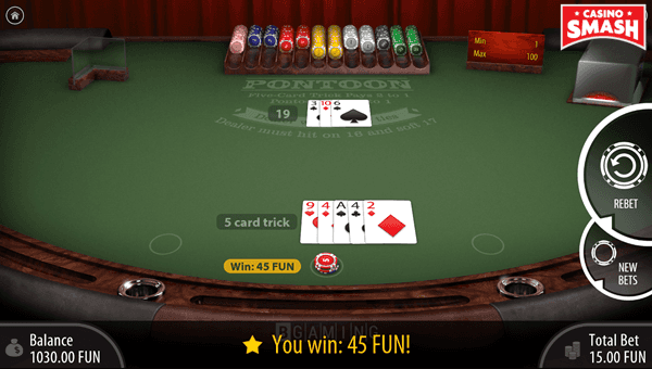 Winning Five Card Trick Hand
